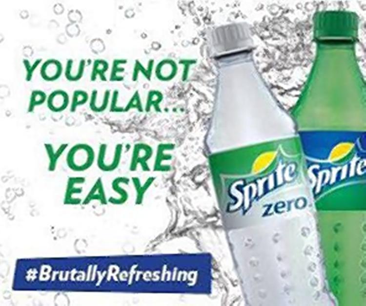 Η διαφημιστική καμπάνια της Sprite #Brutally Refreshing ως διαφήμιση σοκ
