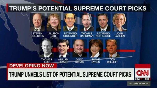 Ποιος θα διαδεχθεί τον A. Scalia στο Ανώτατο Δικαστήριο των ΗΠΑ επί Trump;